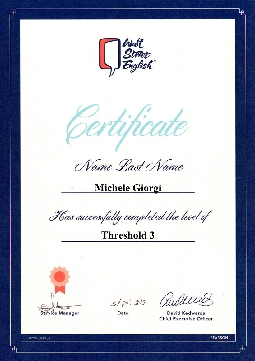 Wall street english certificateg michele giorgi all right reserved xflitez Image collections